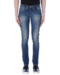 Dondup Blue Denim Trousers for men
