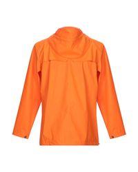 Rains Lange Jacke in Orange für Herren
