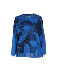 MM6 by Maison Martin Margiela - Blue Sweater - Lyst