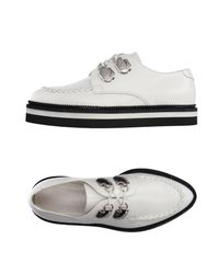 Alexander McQueen White Lace-up Shoe