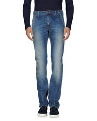 People Blue Denim Trousers for men