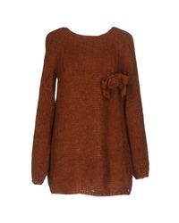 Scee By Twin-set Brown Sweaters