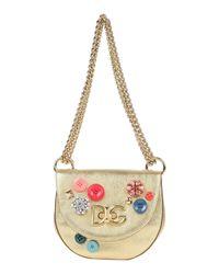 Borsa a spalla di Dolce & Gabbana in Metallic