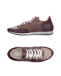 Philippe Model Purple Low-tops & Sneakers