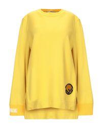 Felpa di Fendi in Yellow