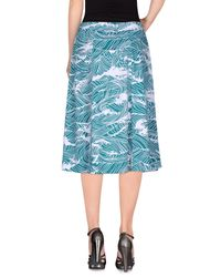 Stussy Blue Knee Length Skirt