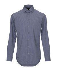 Camisa Armani de hombre de color Blue