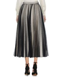 Philosophy Di Lorenzo Serafini - Black 3/4 Length Skirt - Lyst