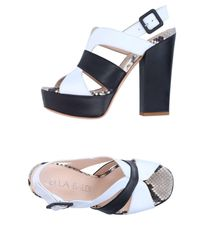 Lella Baldi - White Sandals - Lyst