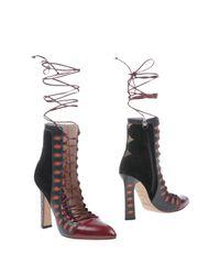 Paula Cademartori Multicolor Ankle Boots