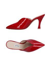 The Attico Red Mules