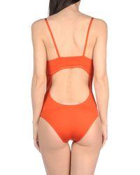 La Perla Orange One-piece Swimsuit