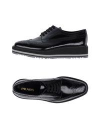 Prada Black Lace-up Shoe