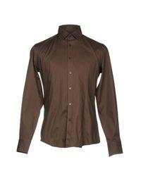 Chemise Grey Daniele Alessandrini pour homme en coloris Brown
