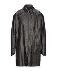 Herno Black Overcoat for men