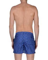 Incotex Blue Swim Trunks for men