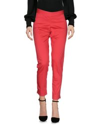 Just For You Red Casual Trouser