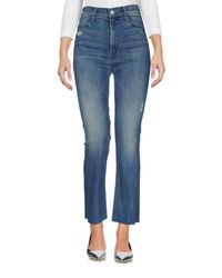Mother Blue Denim Trousers