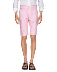 Incotex Pink Bermuda Shorts for men