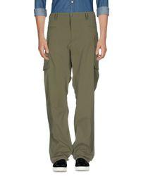 Snow Peak Green Casual Pants for men