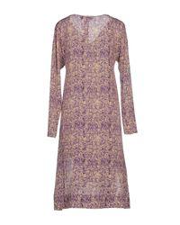 L'Autre Chose Purple Knee-length Dress