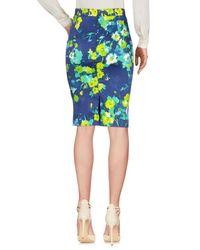 Angelo Marani Blue Knee Length Skirt
