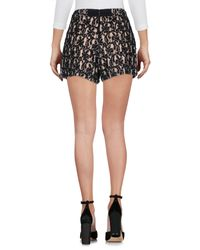 Alice + Olivia Black Highwaisted Embellished Lace Shorts