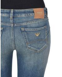 Pantalon en jean Armani Jeans en coloris Blue