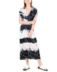Zero + Maria Cornejo White Langes Kleid