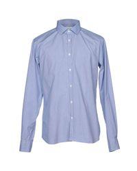 Aglini Blue Shirt for men