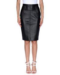 John Richmond Black Knee Length Skirt