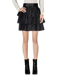 Balmain - Black Mini Skirt - Lyst