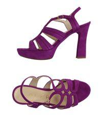 Unisa Purple Sandals