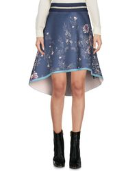Mini-jupe Patrizia Pepe en coloris Blue