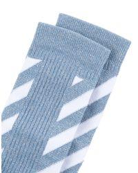 Socquettes Off-White c/o Virgil Abloh en coloris Blue