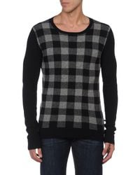 CoSTUME NATIONAL - Black Crewneck Sweaters for Men - Lyst