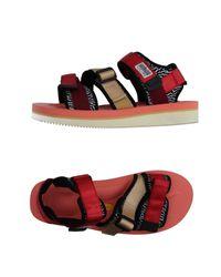 Suicoke Red Sandals for men