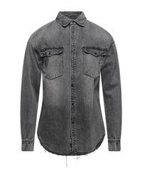 Camicia jeans di AllSaints in Gray da Uomo