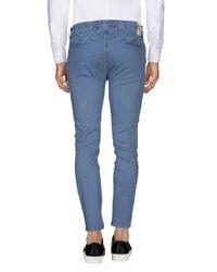 Yan Simmon Blue Casual Trouser for men