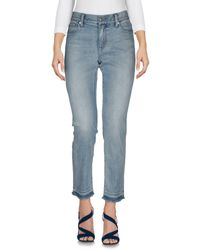 Pantalon en jean Burberry en coloris Blue