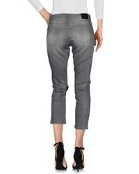 Please - Gray Denim Pants - Lyst