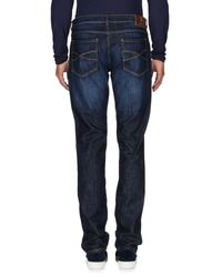 Brunello Cucinelli Blue Denim Trousers for men