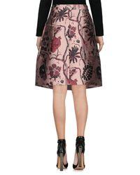 Alberta Ferretti - Pink Knee Length Skirt - Lyst