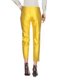 Blugirl Blumarine Yellow Casual Pants