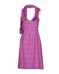 Missoni Purple Short Dresses