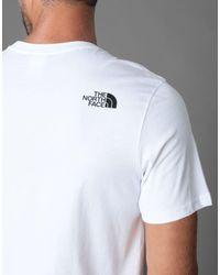 The North Face T-shirts in White für Herren