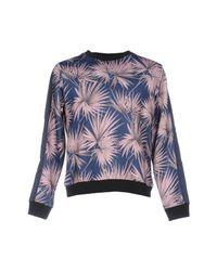 MSGM - Blue Sweatshirt for Men - Lyst