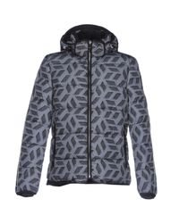 Napapijri Gray Down Jacket for men