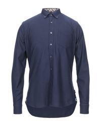 Camisa Aquascutum de hombre de color Blue