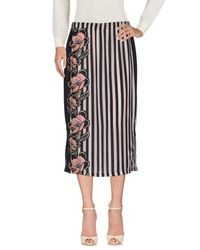 Scee By Twin-set Black 3/4 Length Skirt